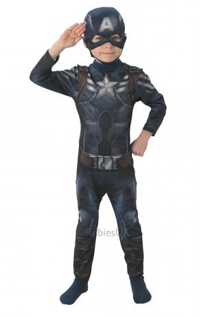 Costum Carnaval Copii Captain America(cu Licenta)