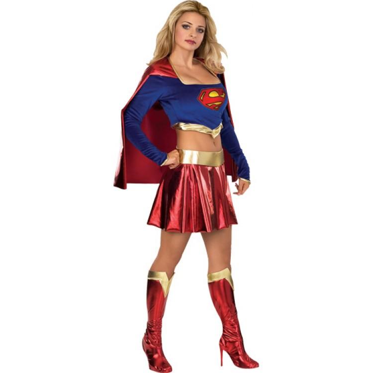 Costum Carnaval Femei Superwoman Scurt
