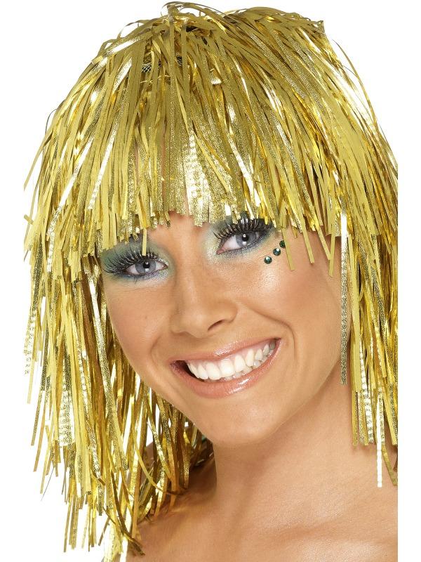 Peruca petrecere auriu metalizat