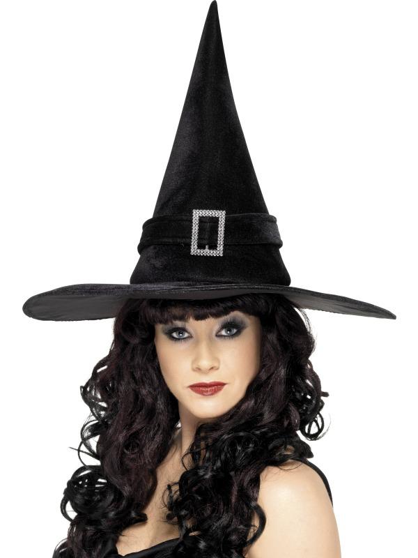Palarie halloween vrajitoare cu catarama
