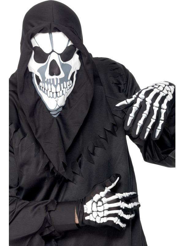 Set Halloween Cagula Schelet Si Manusi