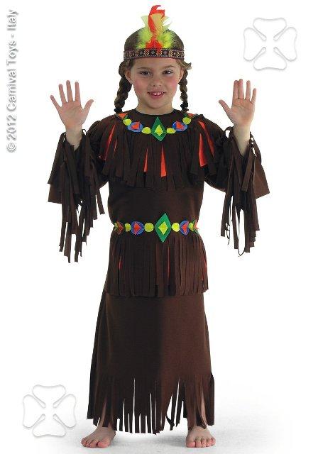 Costum Carnaval Copii Indianca Cu Bentita Colorata