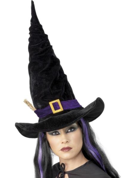 Palarie Halloween Vrajitoare Neagra Cu Catarama