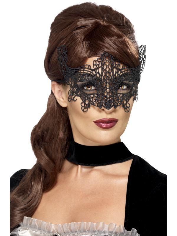 Masca de carnaval din broderie