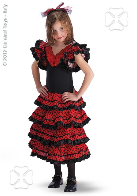 Costum Carnaval Copii Dansatoare Spaniola Carmenci