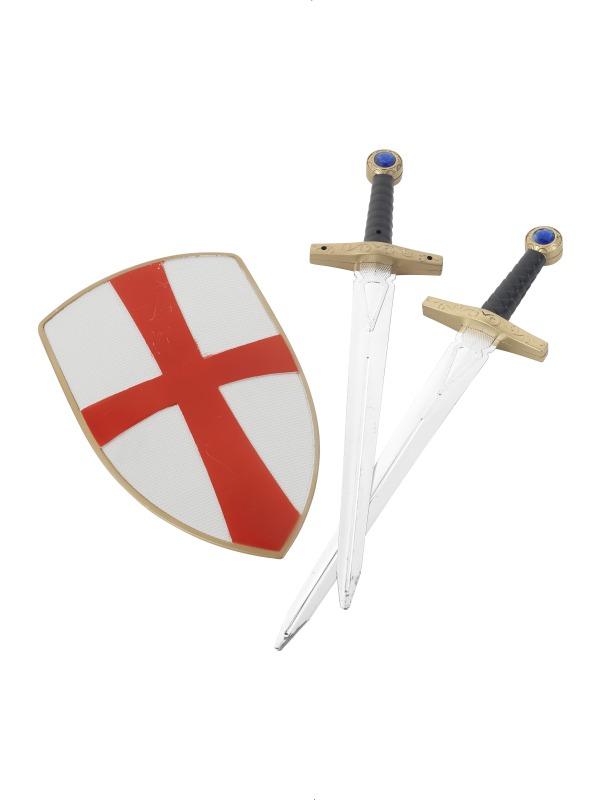 Set Cavaler Medieval rosu