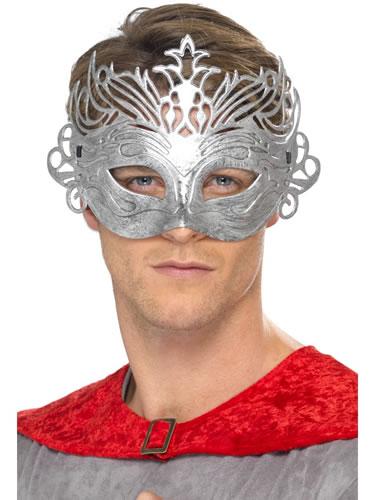 Masca de carnaval argintie Columbine