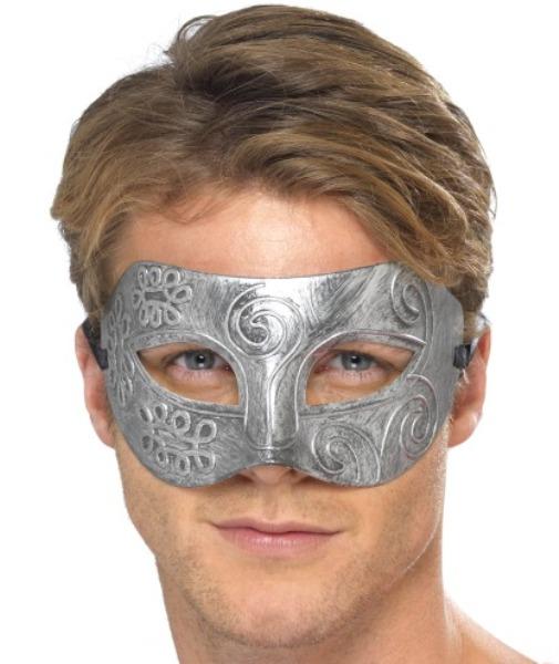Masca De Carnaval Argintie Colombina
