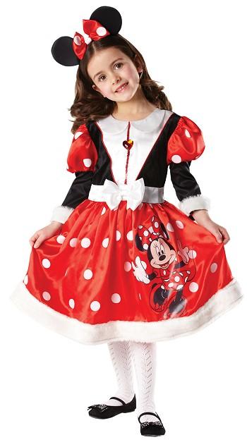 Costum Carnaval Copii Fete Minnie (cu Licenta) Cu Bentita