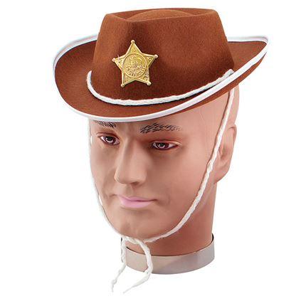 Palarie Petrecere Copii Cowboy Maro Cu Alb