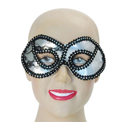 Masca de carnaval Domino cu broderie