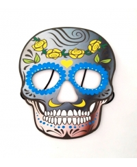 Masca Halloween copii Day of the Dead flori galbene