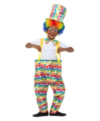 Costum carnaval copii clown multicolor