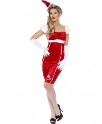 Costum Craciunita Adulti Pin-up Miss Santa