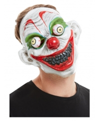 Masca horror Halloween clown alba