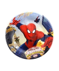 Set 8 farfurii mici ULTIMATE SPIDERMAN