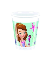 Set pahare plastic SOFIA the First