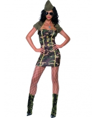 Costum carnaval Femei Army Girl