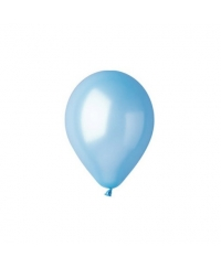 Balon latex bleu metalizat 28 cm