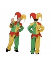 Costum carnaval copii clown galben