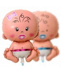 Balon folie minifigurina baby girl 35cm