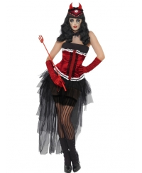 Costum Halloween adulti Diavolita Diva Demonica