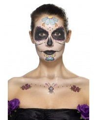 Kit machiaj Halloween Day of the dead floricele