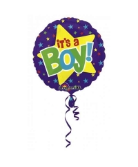 Balon folie  It's A Boy cu Stelute