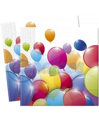 Set 20 servetele Flying Balloons