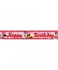 Banner folie HAPPY BIRTHDAY Minnie Mouse