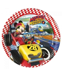 Set 8 farfurii mari Mickey Mouse Roadster