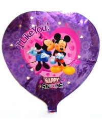 Balon folie inima Mickey si Minnie
