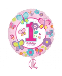 Balon folie sweet 1st birthday girl