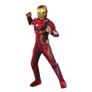 Costum Carnaval Copii Iron Man De Lux (cu Licenta)