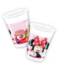 Set pahare plastic Minnie Mouse