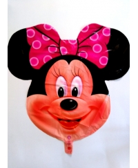 Balon folie cap de Minnie Mouse 64 cm
