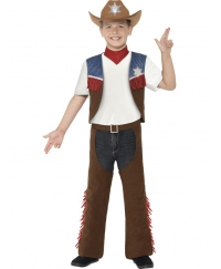 Costum carnaval copii cowboy texan