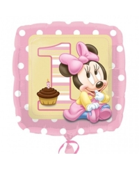 Balon folie Minnie First Birthday