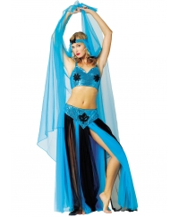 Costum carnaval femei Belly Dancer albastru