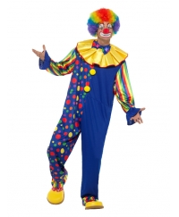 Costum carnaval barbati clown multicolor