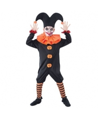 Costum Halloween copii Jester diabolic