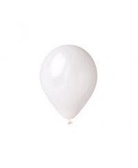 Balon latex alb metalizat 28 cm