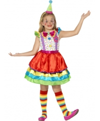 Costum carnaval copii fete clown