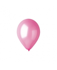 Balon latex roz metalizat 28 cm