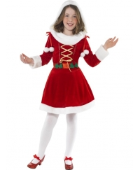 Costum Craciun Copii Craciunita Little Miss Santa