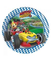 Set 8 farfurii mici Mickey Mouse Roadster