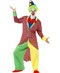 Costum carnaval barbati Clown de lux