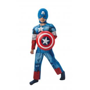 Costum Carnaval Copii Captain America (licenta)