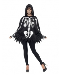 Set Halloween adulti schelet unisex