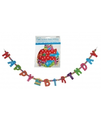 Banner HAPPY BIRTHDAY colorat